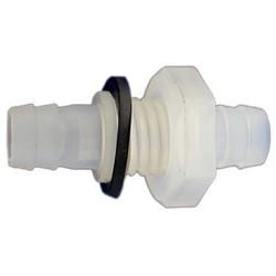 PP doorvoer slangtule 10mm tule x M14 x 10mm tule ozonbestendig