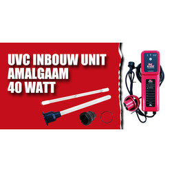 Red Label UVC Inbouw Unit Amalgaam 40 watt