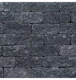 TuinVisie Wallblock thumbled Antraciet 12x12x30 cm