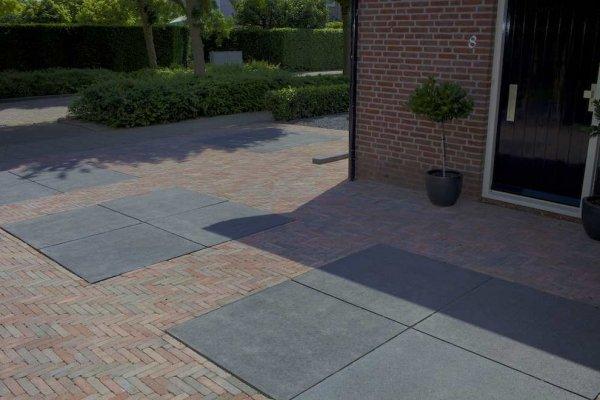 Antraciet Tegels 60x60 : Oud hollandse tegel carbon 60x60x7 cm top tuinmaterialen