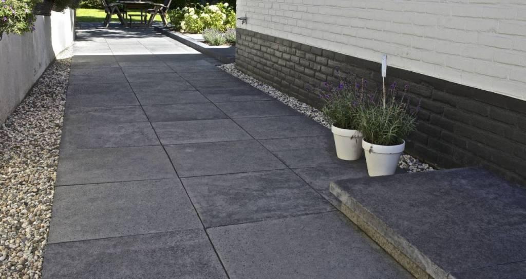 Tuin Tegels 100x100.Schellevis Oud Hollandse Tegel Carbon 100x100x5 Cm