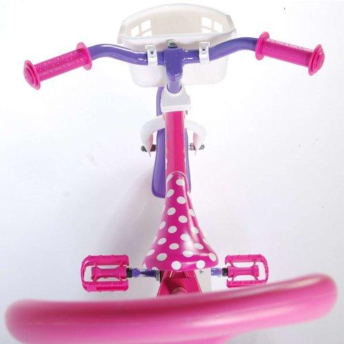 Disney Minnie Bow Tique Disney Minnie Bow-tique Kinderfiets - Meisjes - 10 inch - Roze/Wit/Paars