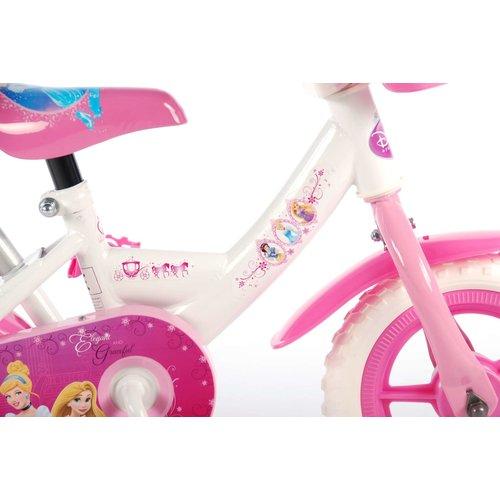 Disney Princess Disney Princess Kinderfiets - Meisjes - 10 inch - Roze/Wit