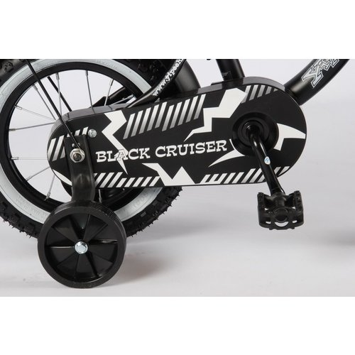 Volare Volare Black Cruiser Kinderfiets - Jongens - 12 inch - Zwart