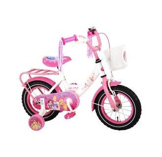 Disney Princess Kinderfiets - Meisjes - 12 inch - Roze - 95% afgemonteerd