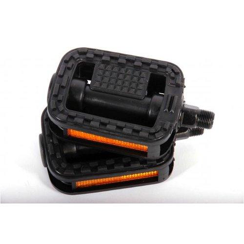 Volare Fietspedalen - 2 stuks - Zwart - voor 20 inch kinderfietsen - Trappers
