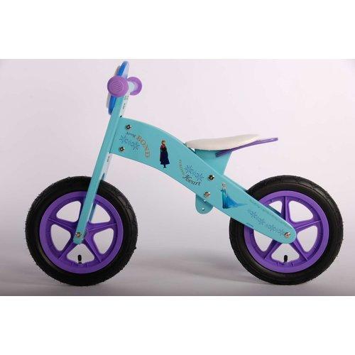 Disney Frozen Disney Frozen Houten Loopfiets - Meisjes - 12 inch - Blauw/Paars