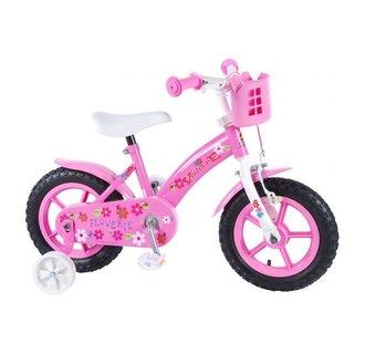 Volare Flowerie Kinderfiets - Meisjes - 12 inch - Roze
