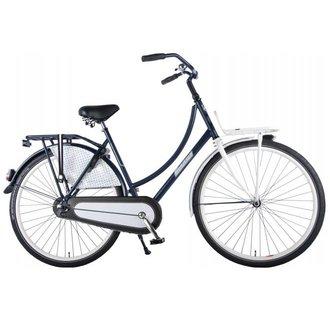 SALUTONI Urban Transport fiets Glamour - Unisex - 28 inch - 56 cm - Blauw/Wit - 95% afgemonteerd
