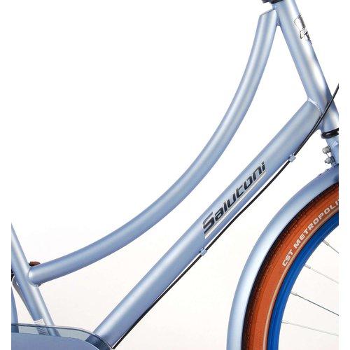 Salutoni SALUTONI Excellent Volwassenfiets - Vrouwen - 28 inch - 56 centimeter - Mat Blauw - Shimano Nexus 3 versnellingen - 95% afgemonteerd