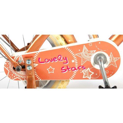 Volare Volare Lovely Stars Kinderfiets - Meisjes - 14 inch - Goud - 95% afgemonteerd