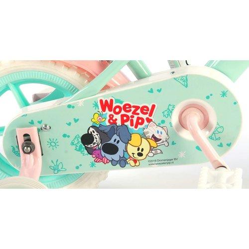 Woezel en Pip Woezel & Pip Kinderfiets - Meisjes - 10 inch - Mint Blauw/Roze