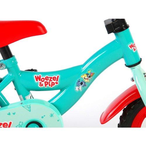 Woezel en Pip Woezel & Pip Kinderfiets - Jongens - 10 inch - Blauw/Rood