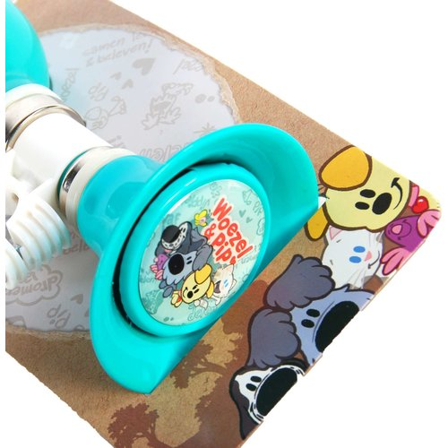 Woezel en Pip Woezel & Pip Fietstoeter - Kinderen - Mint Blauw