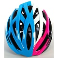 Salutoni Salutoni Dames Fietshelm Blauw Wit Roze 58-61 cm