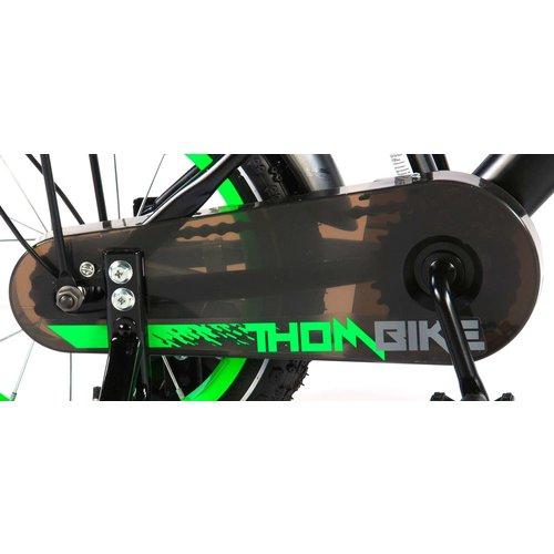 Volare Volare Thombike Kinderfiets - Jongens - 14 inch - Satin Black Green - 95% afgemonteerd