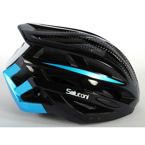 Salutoni Salutoni Heren Fietshelm Zwart Blauw 58-61 cm
