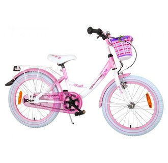 Volare Rose Kinderfiets - Meisjes - 18 inch - Wit Roze - 95% afgemonteerd
