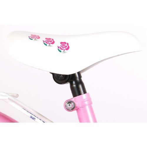 Volare Volare Rose Kinderfiets - Meisjes - 18 inch - Wit Roze - 95% afgemonteerd