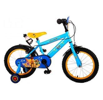 Disney Toy Story Kinderfiets - Jongens - 16 inch - Geel Blauw - 2 handremmen