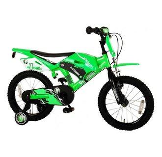 Volare Motobike Kinderfiets - Jongens - 16 inch - Groen - twee handremmen
