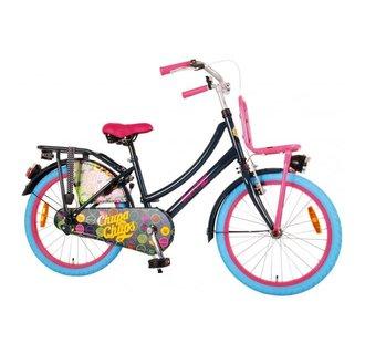 Chupa Chups Oma Kinderfiets - Meisjes - 20 inch - (Donker)Blauw/Roze