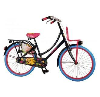 Chupa Chups Oma Kinderfiets - Meisjes - 24 inch - Donker Blauw/Roze