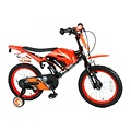 Volare Volare Motorbike Kinderfiets - Jongens - 16 inch - Oranje - twee handremmen
