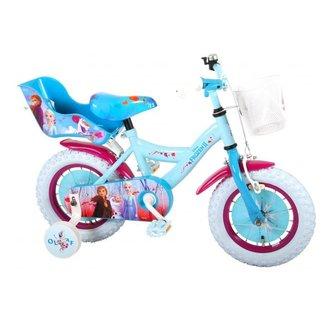 Disney Frozen 2 Kinderfiets - Meisjes - 12 inch - Blauw/Paars - 95% afgemonteerd