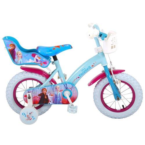 Disney Frozen 2 Disney Frozen 2 Kinderfiets - Meisjes - 12 inch - Blauw/Paars