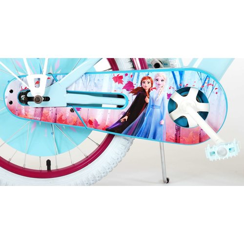 Disney Frozen 2 Disney Frozen 2 Kinderfiets - Meisjes - 18 inch - Blauw/Paars - 95% afgemonteerd