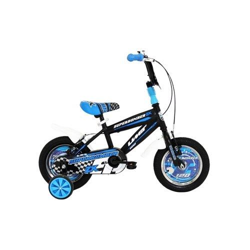 Umit Umit Superbomber 12 inch Zwart-Blauw jongensfiets