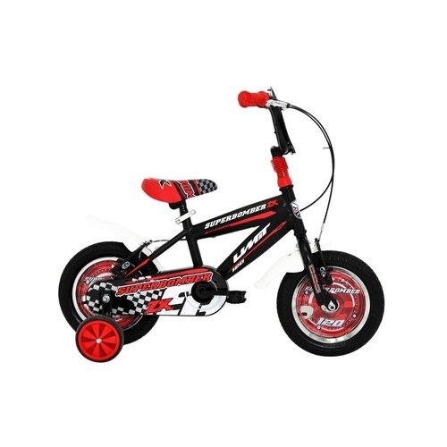 Umit Umit Superbomber 12 inch Zwart-Rood jongensfiets