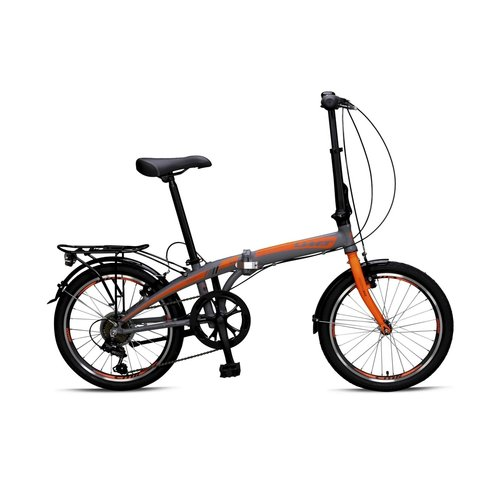 Umit Umit Vouwfiets Folding  20 inch Aluminium 6v Grijs-Orange