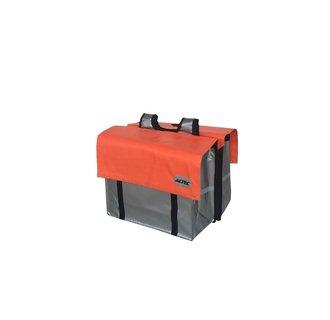 Altec Fietstas Bisonyl Dubbel Grijs/Oranje 38x15x33 / 45L
