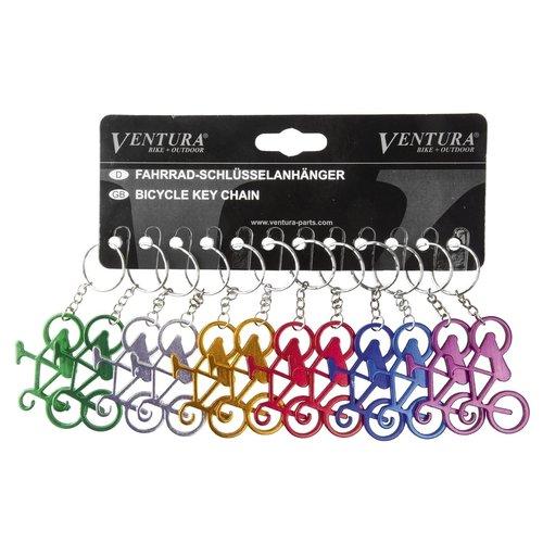 Altec Fiets Sleutelhangers 719906 Mix kleuren per 12 stuks VERPAKT