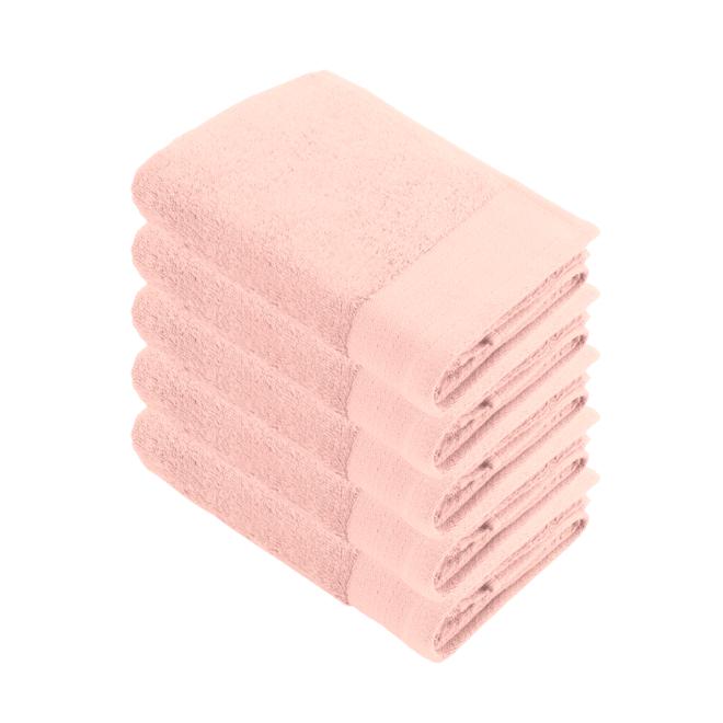 Walra Handdoek Roze 50x100cm - Set van 5