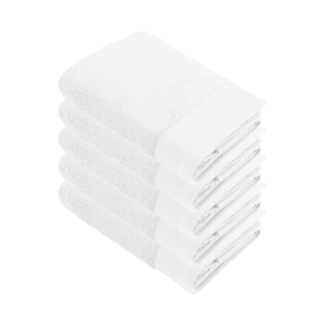 Walra Badlaken Wit 70x140cm - Set van 5