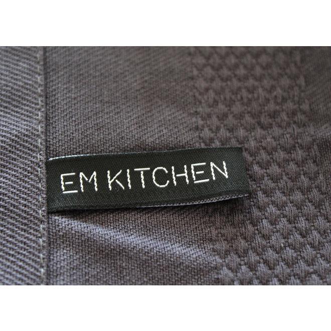 EM Kitchen Set Donker Grijs - 5 Theedoeken 50x70cm + 5 Keukendoeken 50x50cm + 6 Vaatdoeken 30x30cm