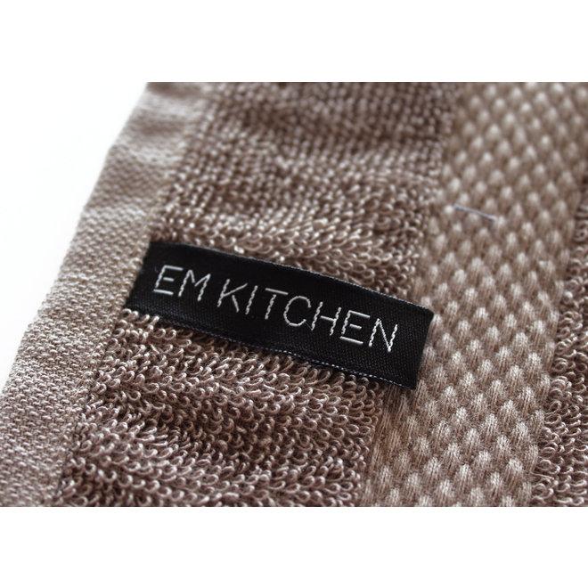 EM Kitchen Set Taupe - 10 Theedoeken 50x70cm + 10 Keukendoeken 50x50cm + 12 Vaatdoeken 30x30cm