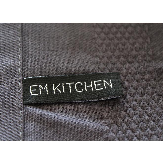 EM Kitchen Set Donker Grijs - 10 Theedoeken 50x70cm + 10 Keukendoeken 50x50cm + 12 Vaatdoeken 30x30cm