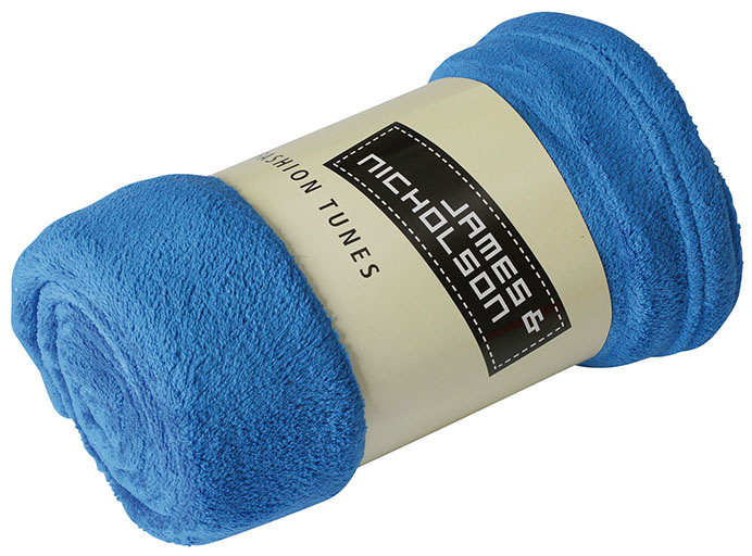 James & Nicholson Microvezel Fleece Plaid Blauw