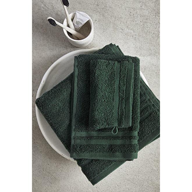 Byrklund Washand Donker Groen 16x21cm - Set van 4