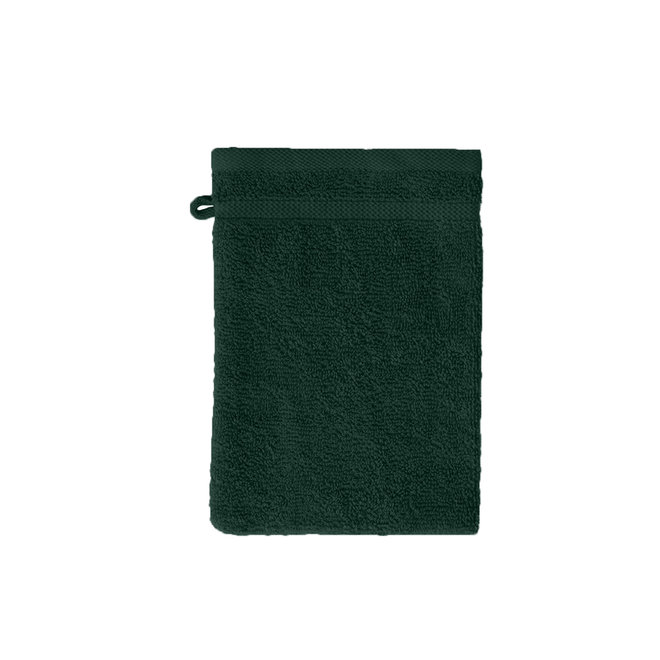 Byrklund Washand Donker Groen 16x21cm - Set van 12