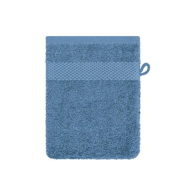 EM Bath Washand Blauw 16x21cm - Set van 4