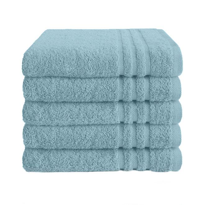Byrklund Handdoek Zeeblauw 50x100cm - Set van  5