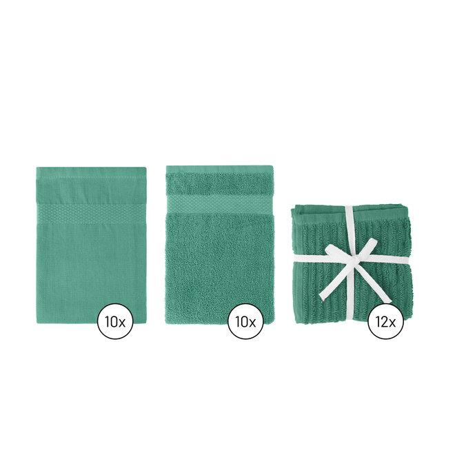Keukentextiel Set Zeegroen