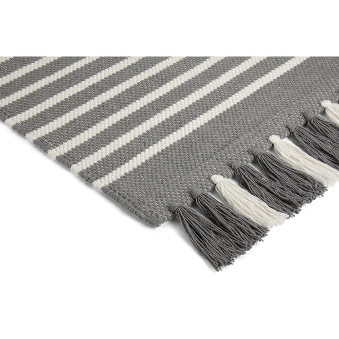 Walra Badmat Stripes & Structure Off Black