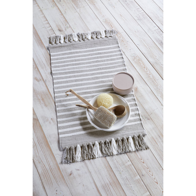 Walra Badmat Stripes & Structure Taupe