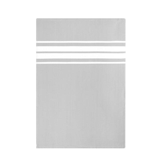 EM Kitchen Set Lichtgrijs - 6 Theedoeken Gestreept 50x70cm